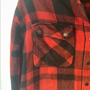 Urban Outfitters Sweaters - Urban outfitters red and black checkered flannel